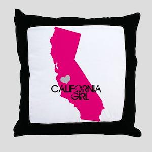 CALIFORNIA GIRL w HEART [4] Throw Pillow